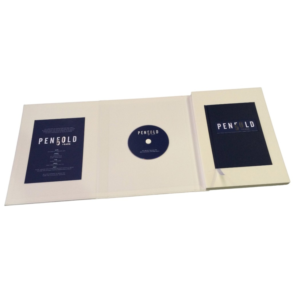 Hard Cover Presentation Folder Case - Open