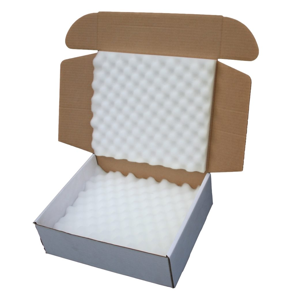 Shipping Boxes with Grooved Foam Insert