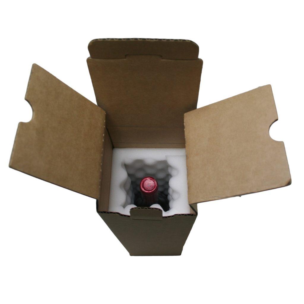 Wine Mailing Box - 1 Bottle - Foam Lined