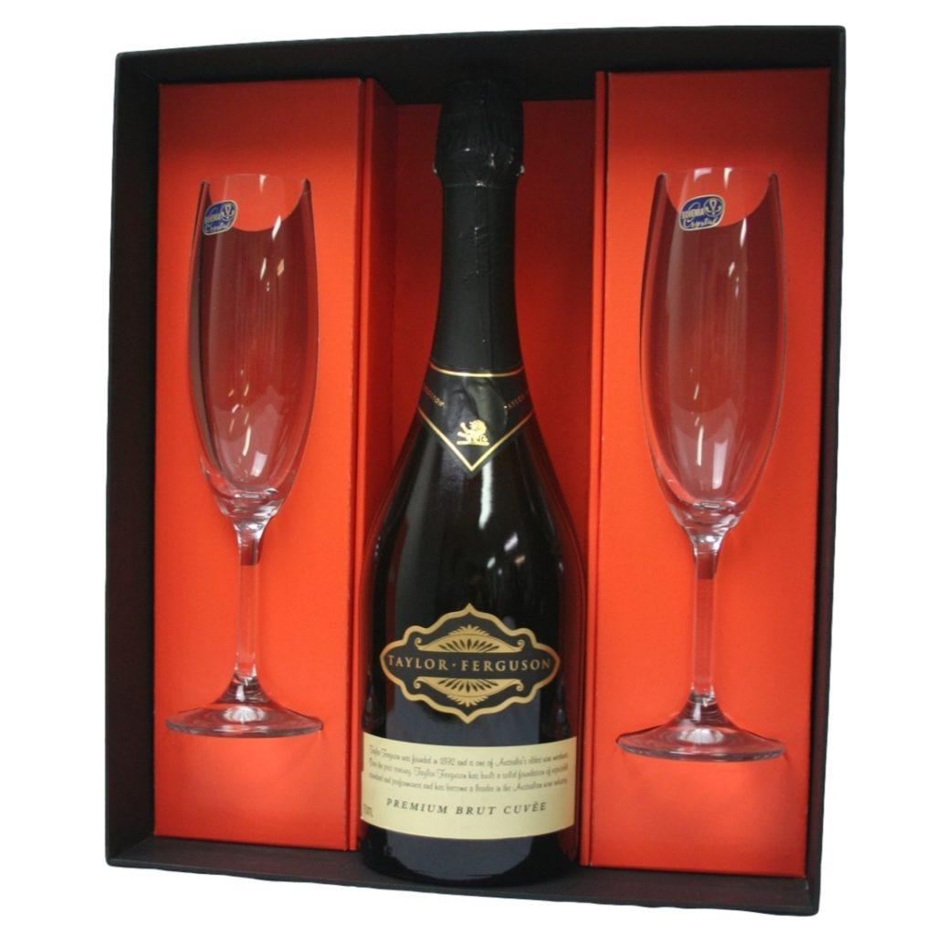 Wine Presentation Box - 1 Bottle + 2 Glasses