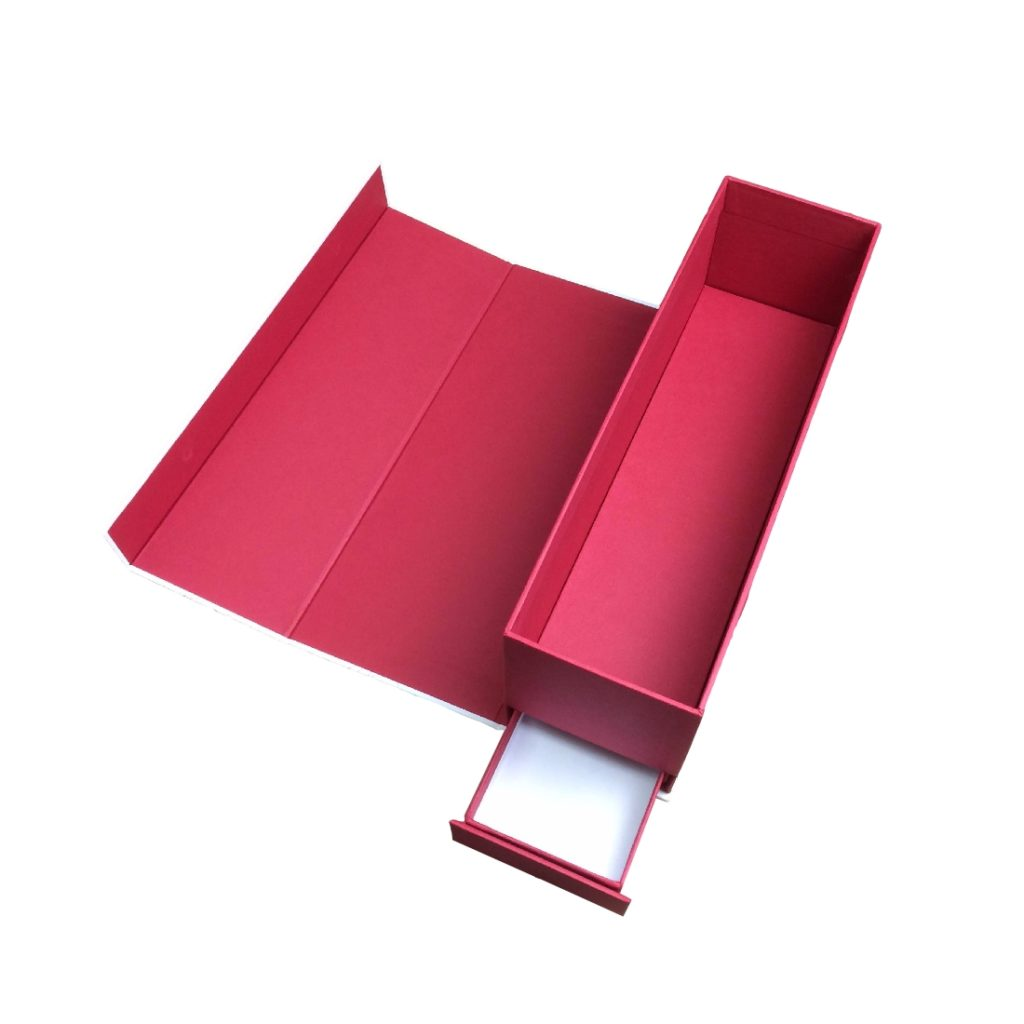 Wine Gift Box with Secret Drawer