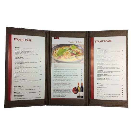 Restaurant Menu Cover - 3 panels
