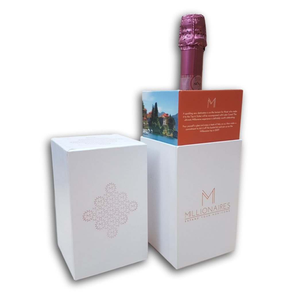 Champagne Bottle Promotional Packaging Box with Detachable Lid