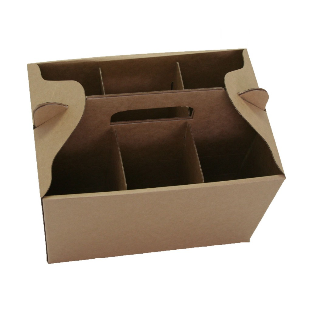 6 Bottles Wine Carry Pack - Open Top