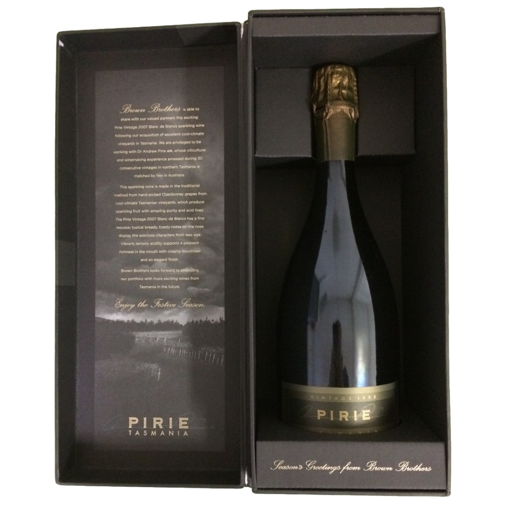 Custom Designed Shoulder Wine Gift Presentation Box with a hinged lid