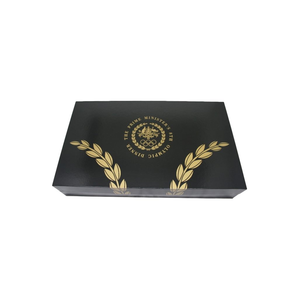 Olympic Dinner Presentation Box - Closed