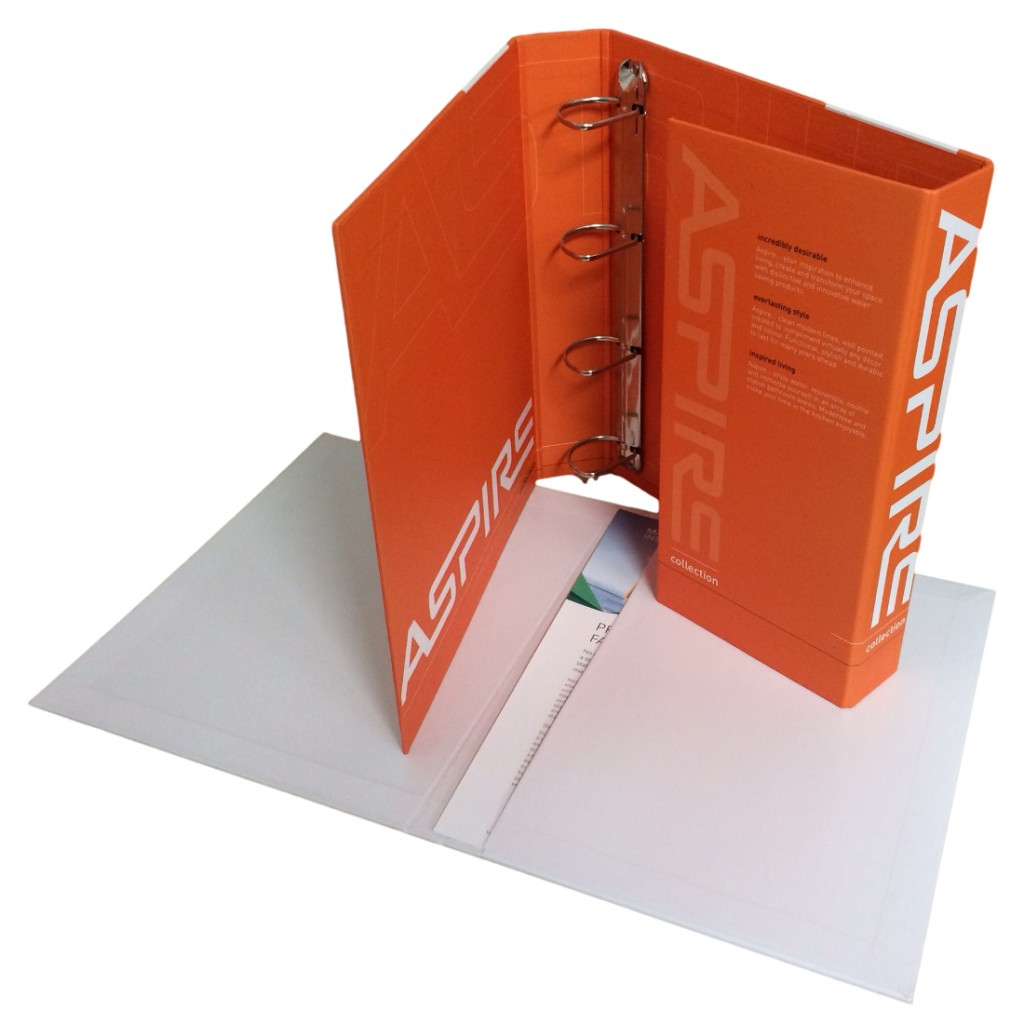 Custom Printed Enclosed Ring Binder Folder