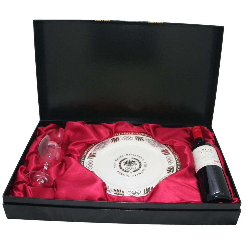 Event Promotional Box with Custom Made Silk Insert - Closed