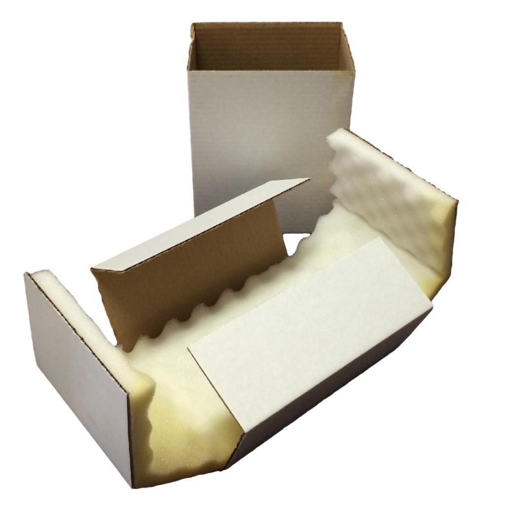 Foam Lined Cross Board Style Wine Bottle Shipper Box