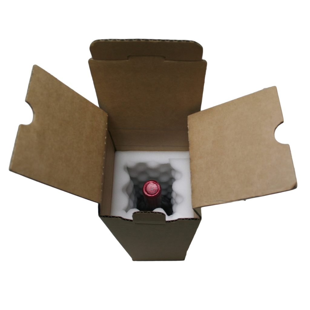 Wine Mailing Box - 1 Bottle - Foam Lined