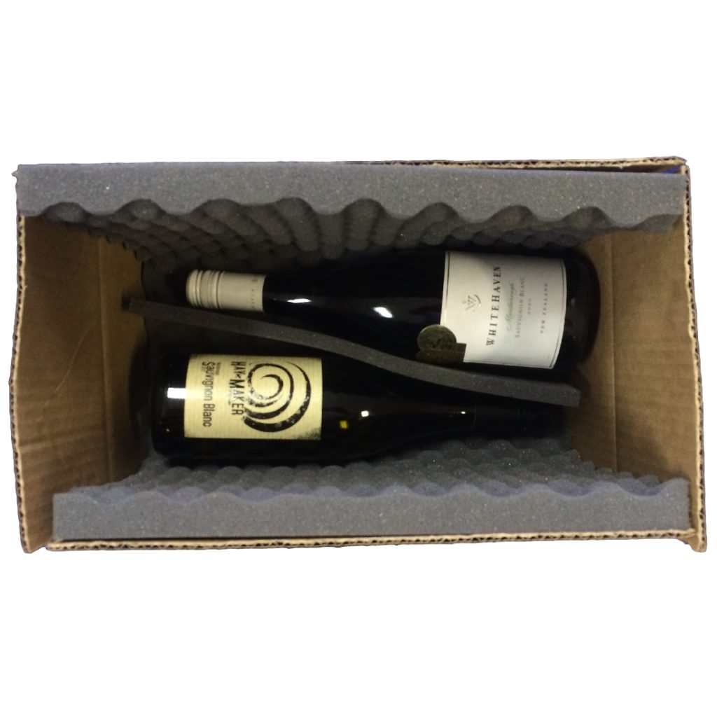 Wine Postal Box - 2 Bottles - Foam Lined