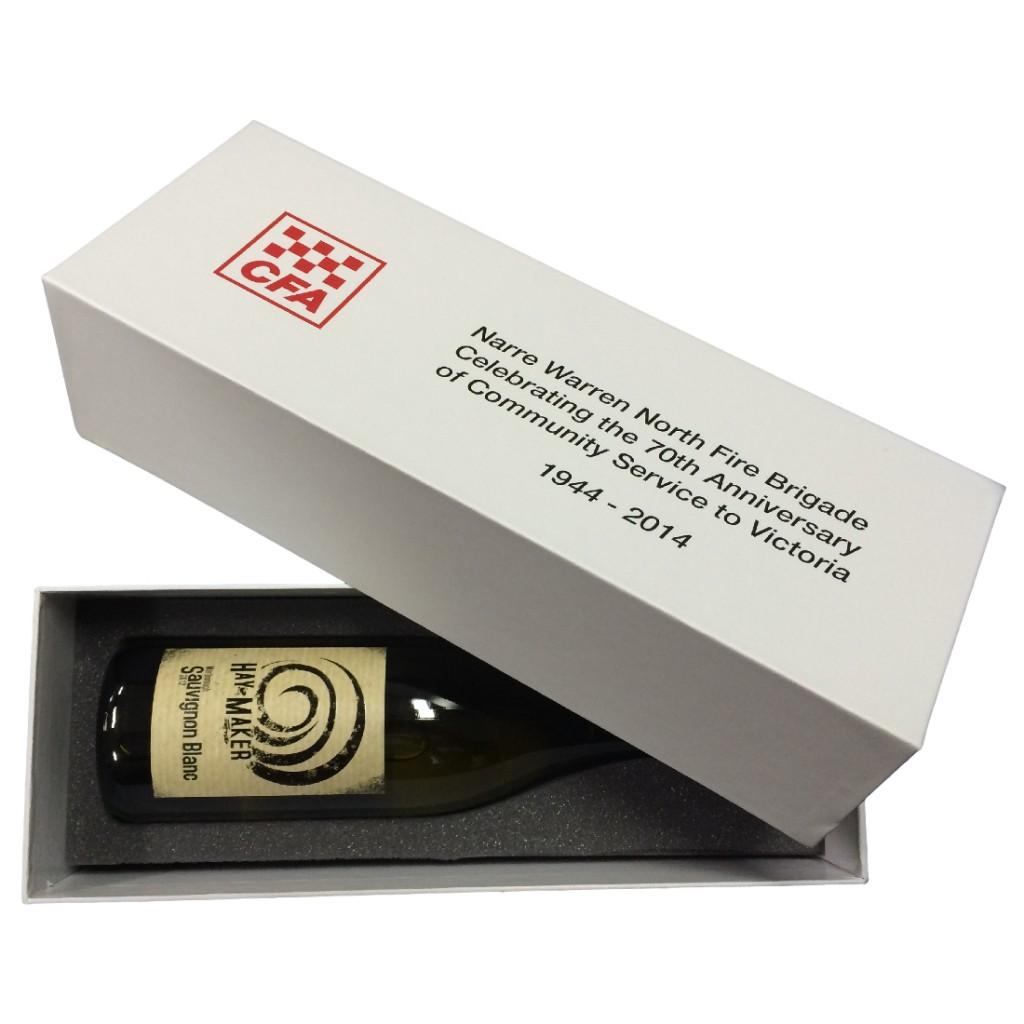 Wine Presentation Box with Lid & Foam Insert