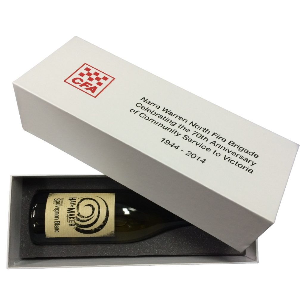 Wine Presentation Box with Lid & Foam Insert
