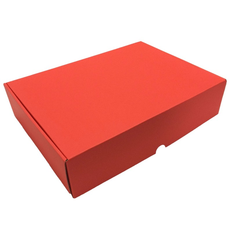 Paper Wrapped Red Mailing Box