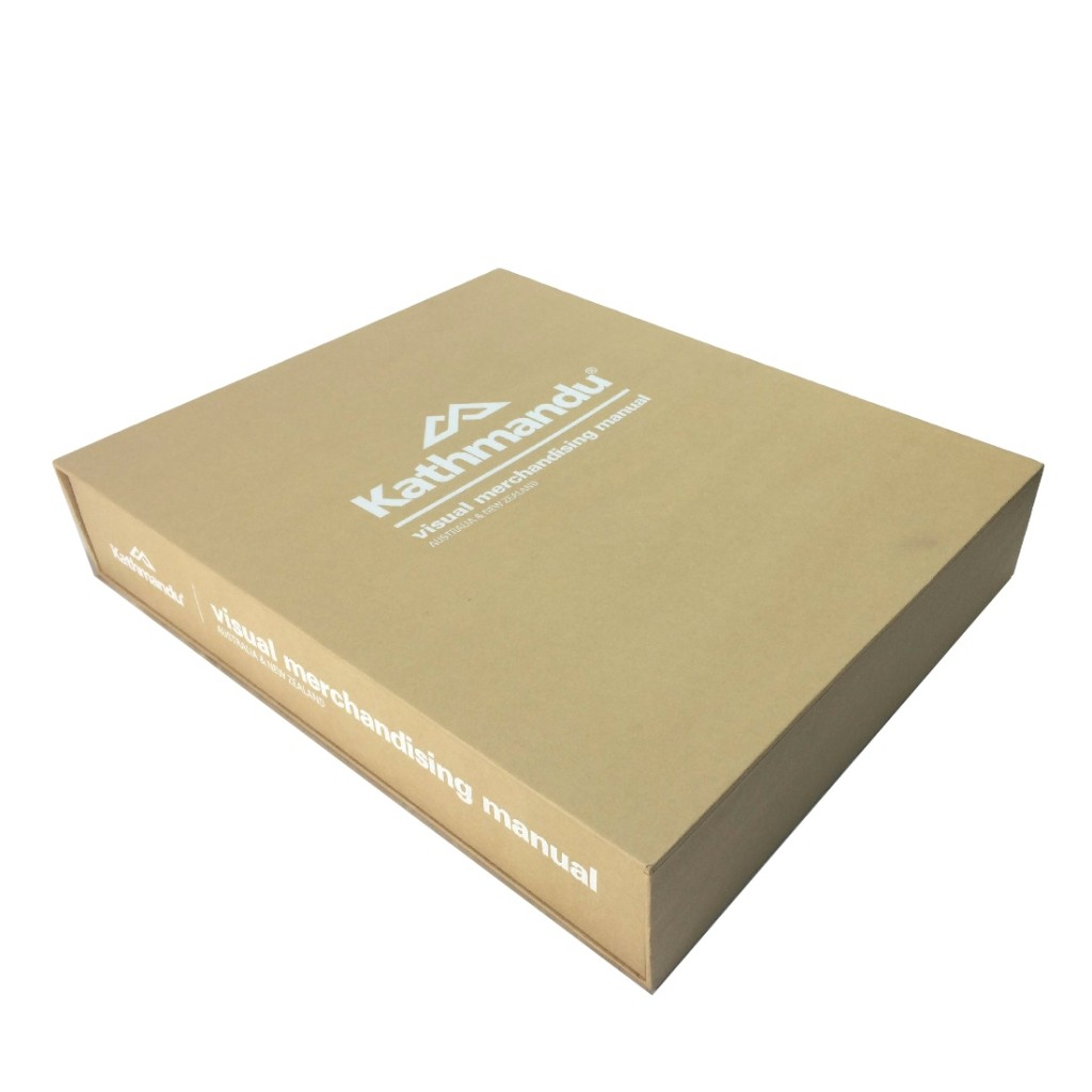 Custom Printed Ring Binder Folder with slipcase