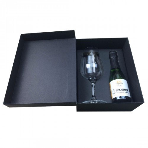School Valedictory Night Promotional Champagne & Glass Box - Open