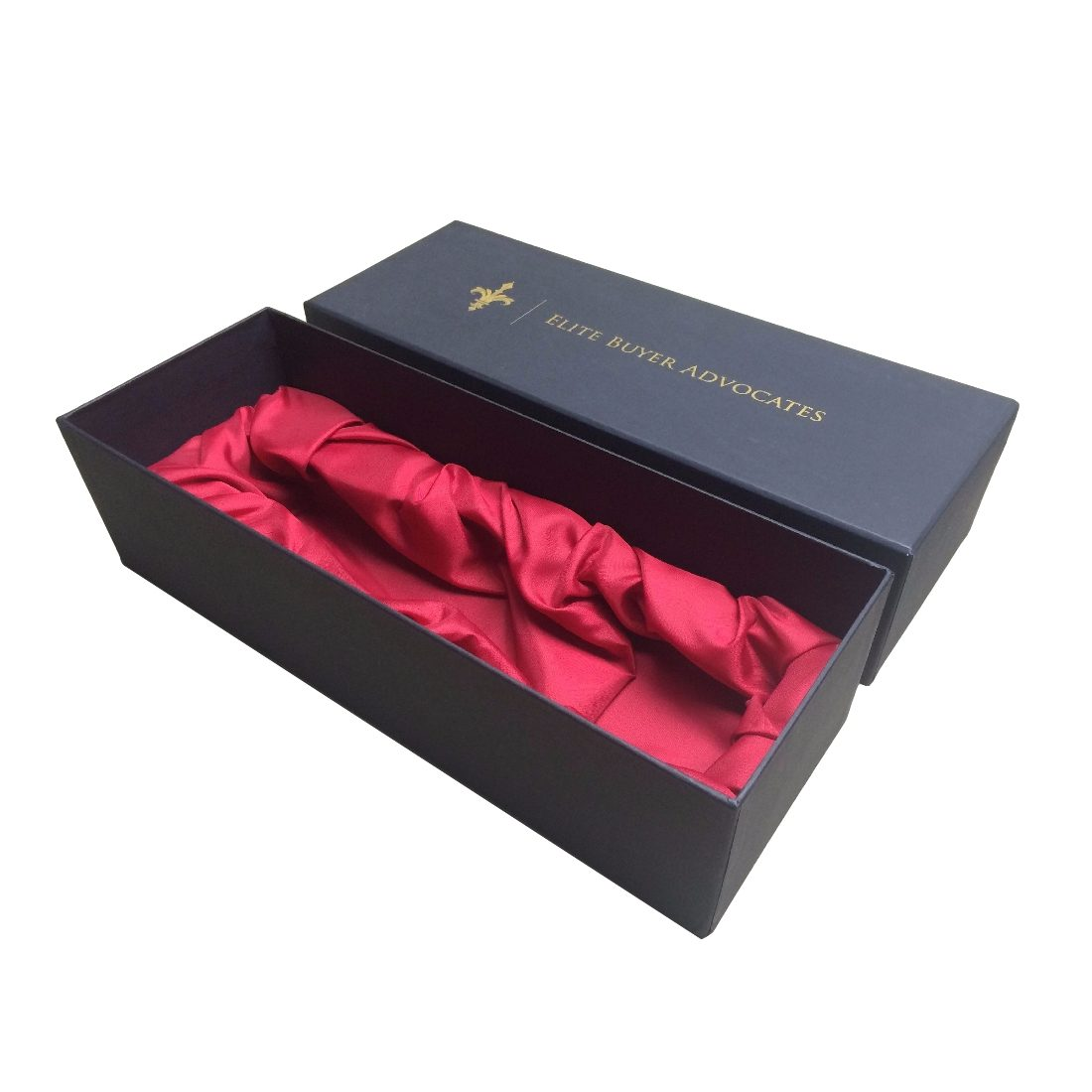 Wine Satin Lined Gift Box