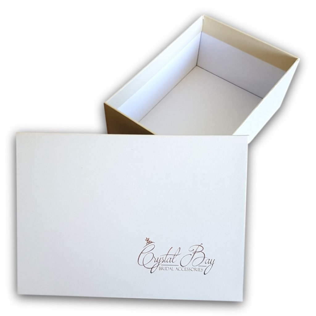 Custom White Shoe Box With Separate Lid