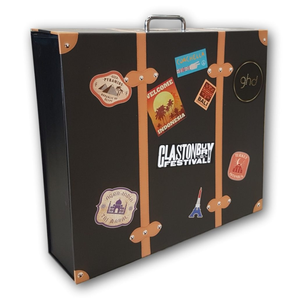 Promotional Cardboard Suitcase Box with Handle
